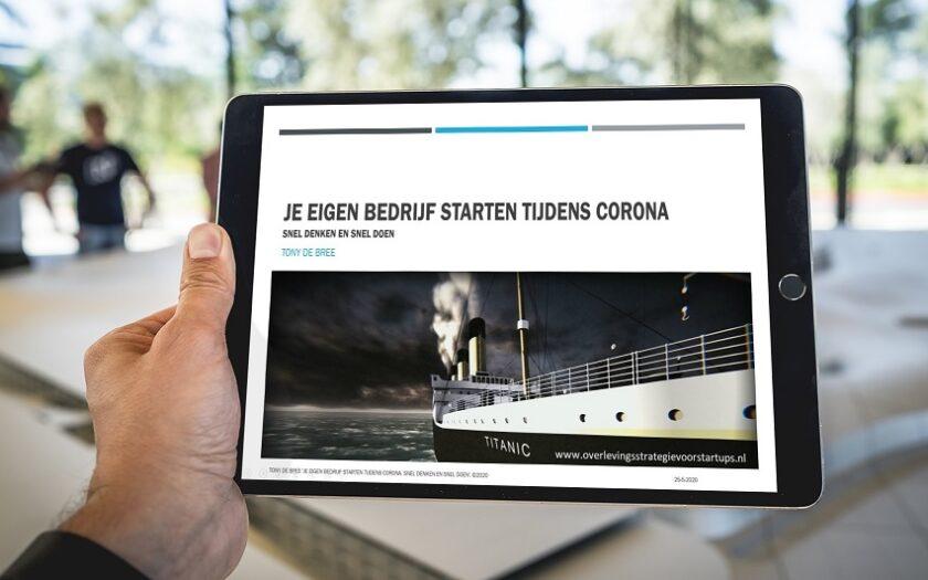 'Geslaagde masterclass 'Je eigen bedrijf starten tijdens Corona'....en snel!' door Tony de Bree