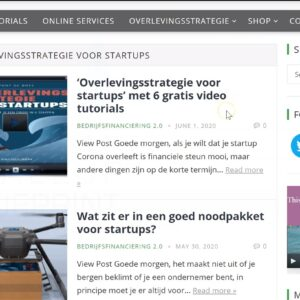 [VIDEO]: 'Zo bekijk je de 'Overlevingsstrategie voor startups' video tutorials' door Tony de Bree